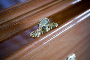 Majestic Golden Oak Coffin